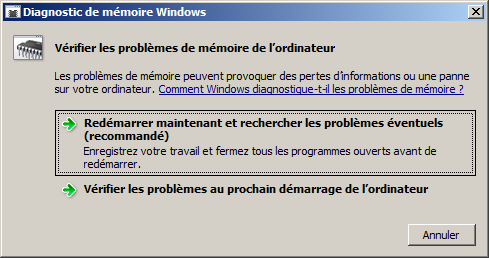 Probleme de memoire windows